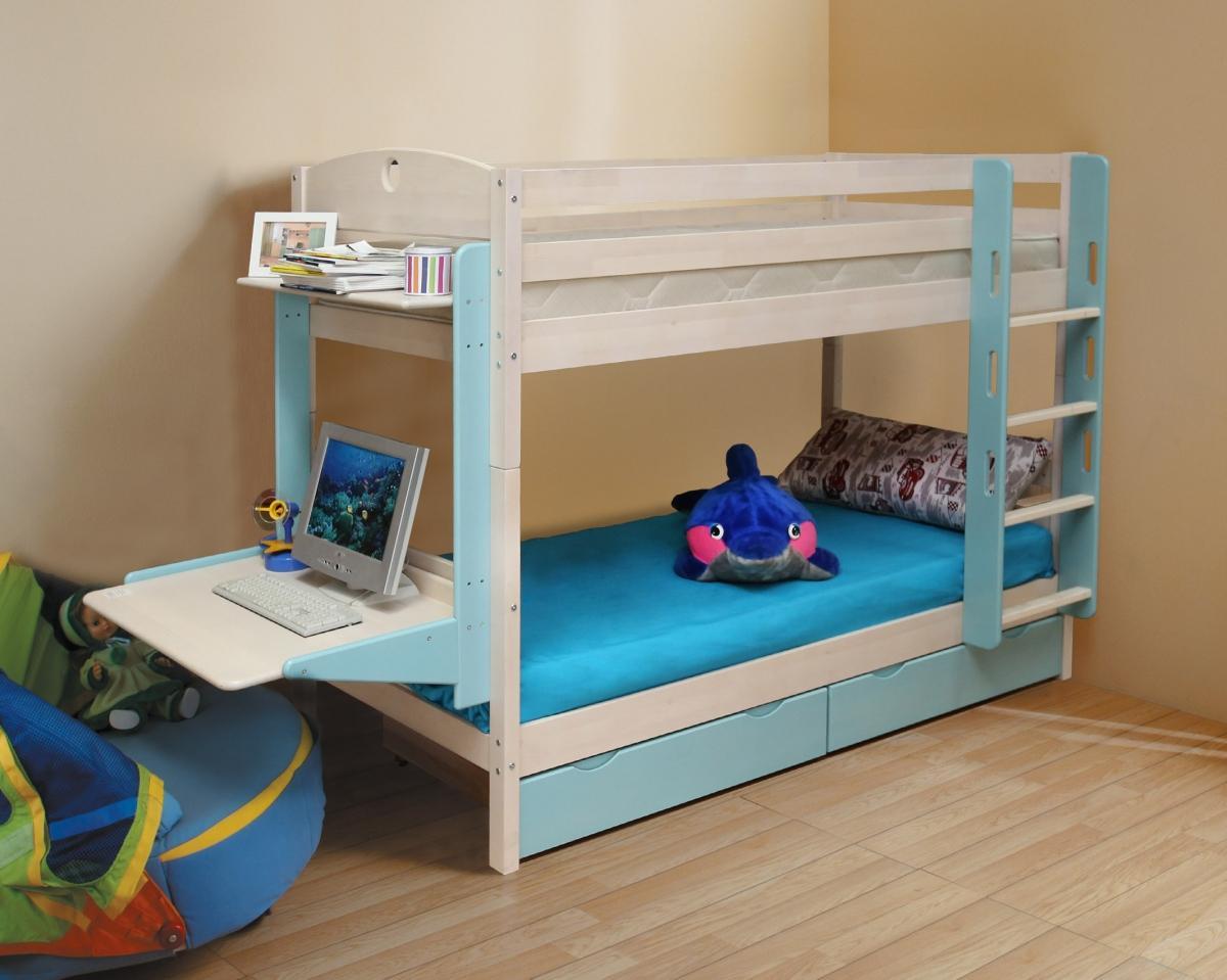 Как сделать двухъярусную кровать детям 240