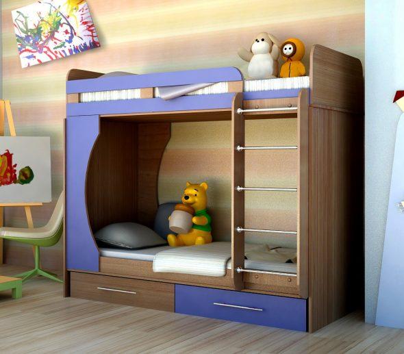 двухъярусная кровать с нишей