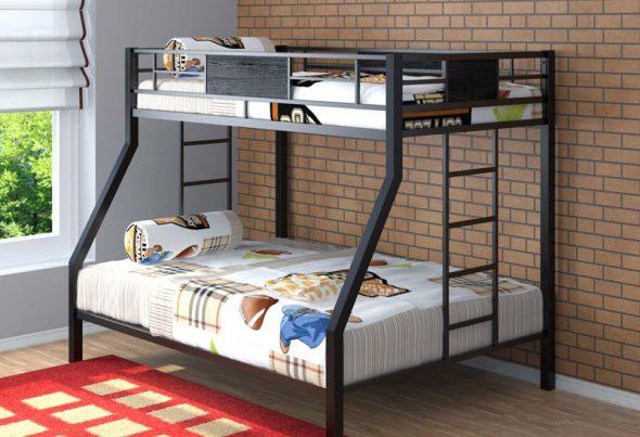 двухъярусная кровать железная