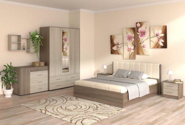 кровать с правильным расположением