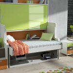 Горизонтальная кровать стол трансформер