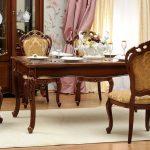 гостиные классика орех стол стулья