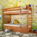 классическая двухэтажная кровать для детей