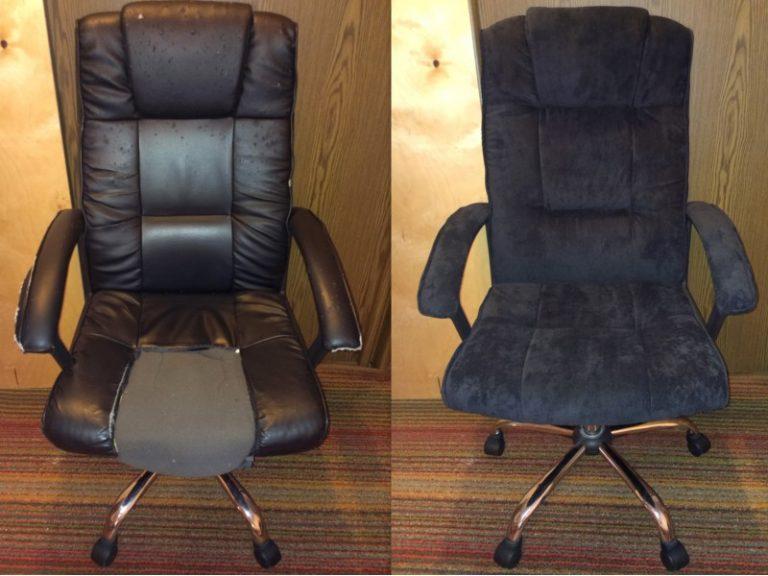 Обтянуть офисное кресло своими руками