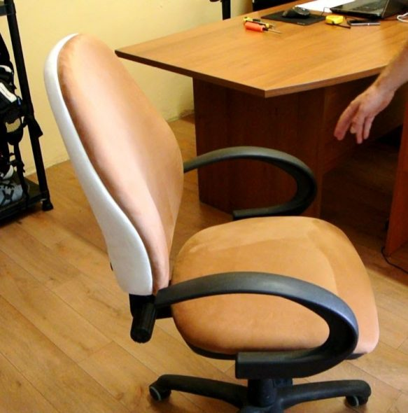 компьютерное кресло заменить обивку