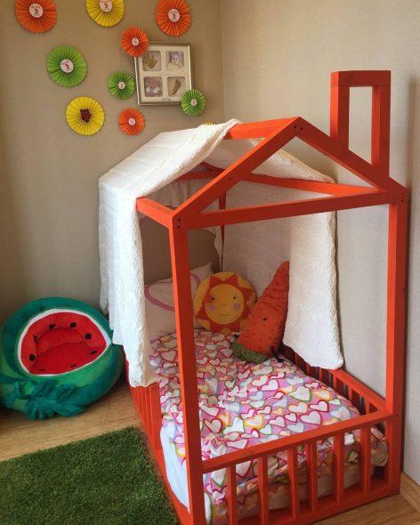 дом кроватка для девочки