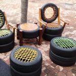 стулья из покрышек