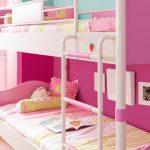 розовая кровать для девочек