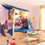 домик кровать с гамаком