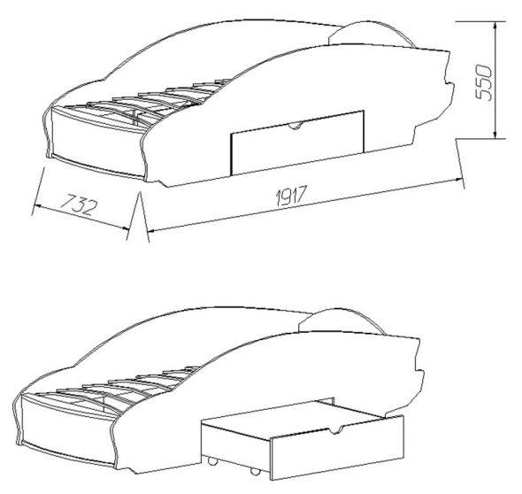 кровать машинка с ящиком своими руками