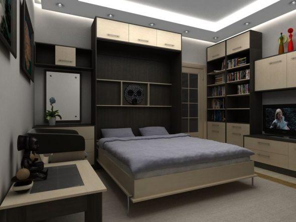 кровать подъёмная разложенная