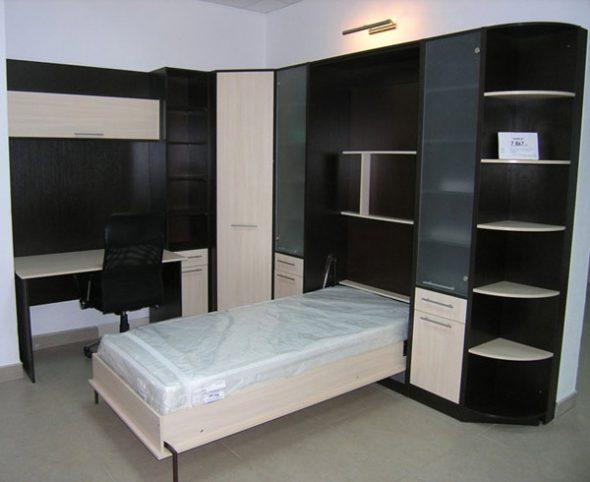 кровать подъёмная в шкаф