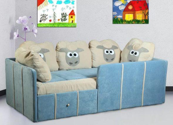 диван в детскую с мягкими бортиками