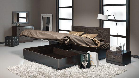 кровать с отделением для вещей