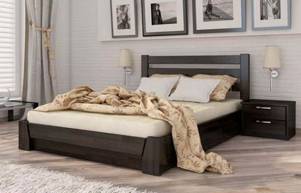 кровать подъемная темная
