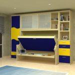 Кровать стол в детской комнате для мальчика