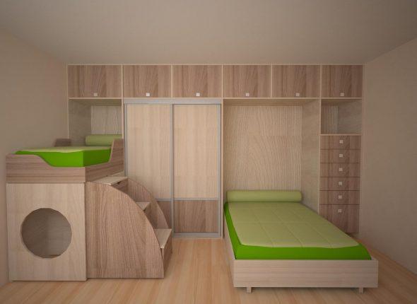 Откидная кровать для детской комнаты