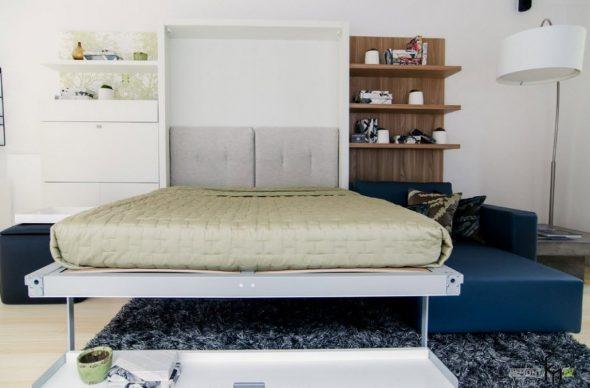 Шкаф-кровать в спальне