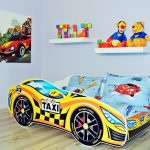 машинка кроватка в стиле такси