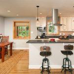 интерьер кухни барные стулья