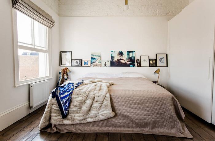 Ali lahko nad posteljo visim police?