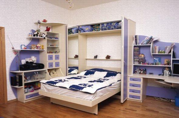 Откидная кровать детская вертикальная