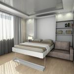 откидная кровать широкая двуспальная
