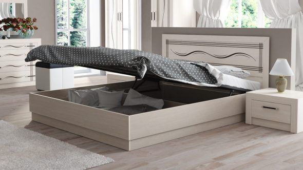 подъемная кровать с нижним шкафом