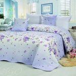Покрывало для двухспальной кровати - голубое