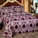 Покрывало для кровати фиолетовое