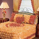 Покрывало для кровати розы