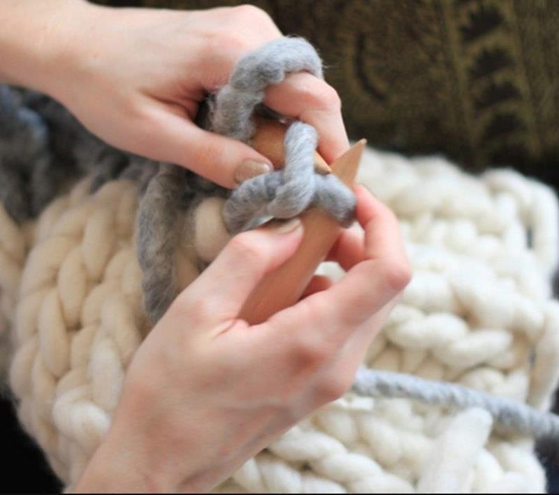Как сделать толстую пряжу из шерсти для валяния