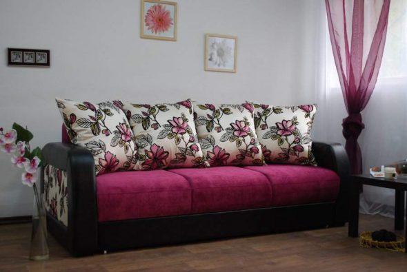 раскладной диван еврокнижка с большими подушками