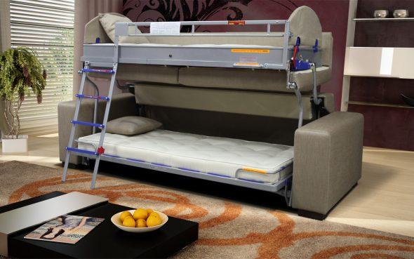 раскладывающийся диван в интерьере