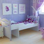 Раздвижная кровать для девочки
