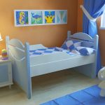 Раздвижная олноспальная кровать для детской спальни