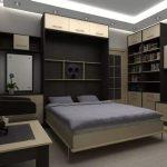 стильный интерьер с откидной кроватью