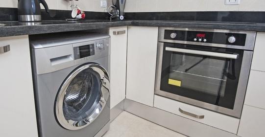 стиральная машина на кухне стиль