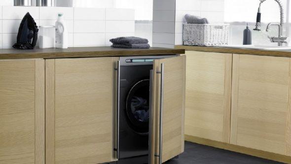 стиральная машина под столешницу на кухне