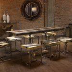 дизайнерская мебель стол и табуреты