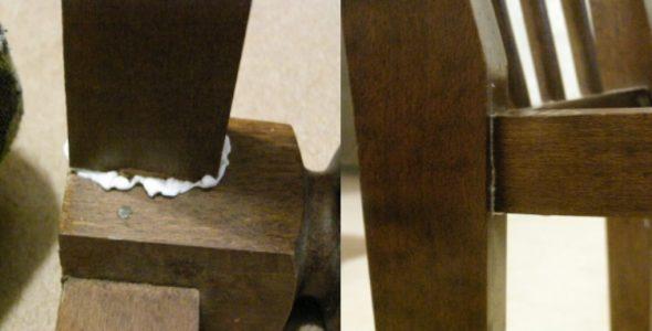 стул склеенный