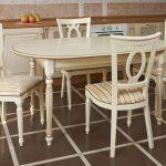 стулья стол дерево для кухни
