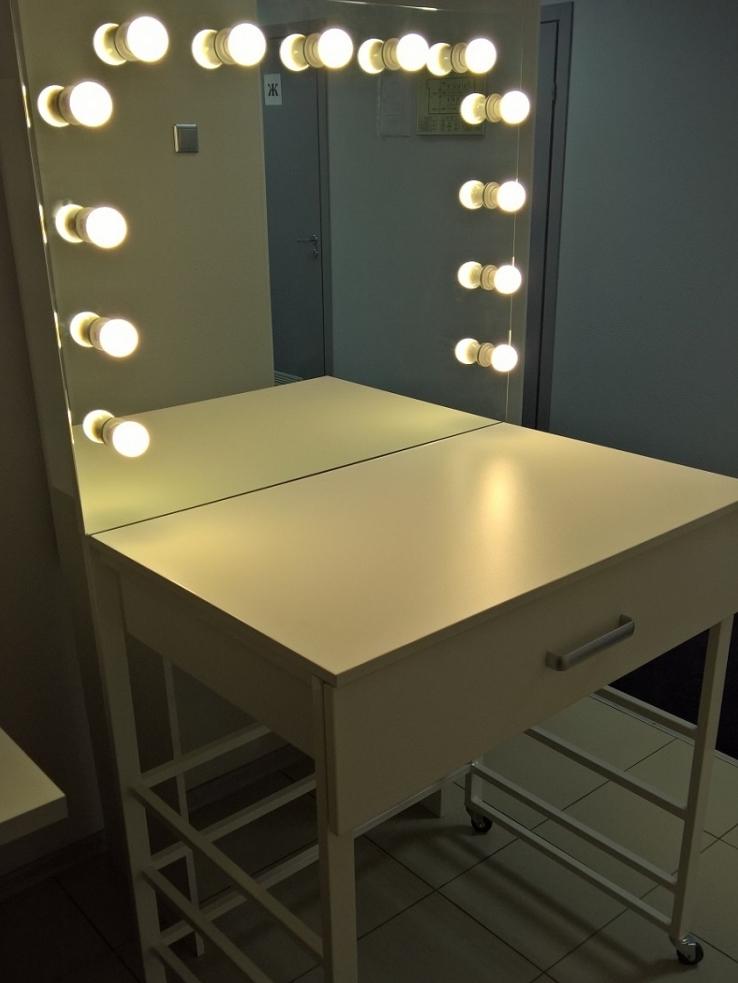 Гримерное зеркало чертежи со светодиодной лентой