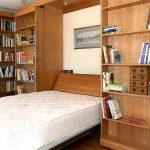 Удобная шкаф кровать в интерьере Икеа