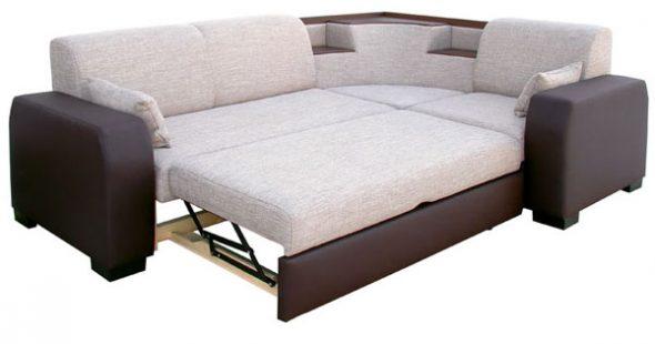 Угловой диван-кровать удобный