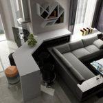 угловой диван-кровать в современном стили