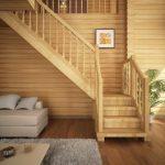 уголок для отдыха в пространстве под лестницей