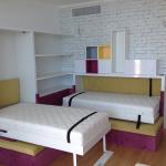 Вертикальная и горизонтальная кровати в детской