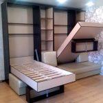 Вертикальные откидные кровати в шкафах