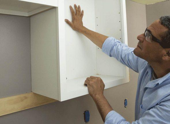 закрепление шкафчиков